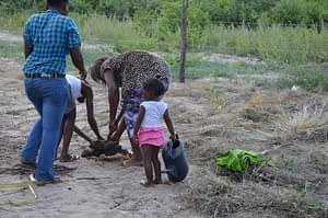 small-scale farming girl northern namibia