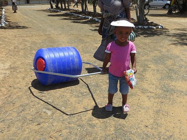 hippo roller rietfontein little girl