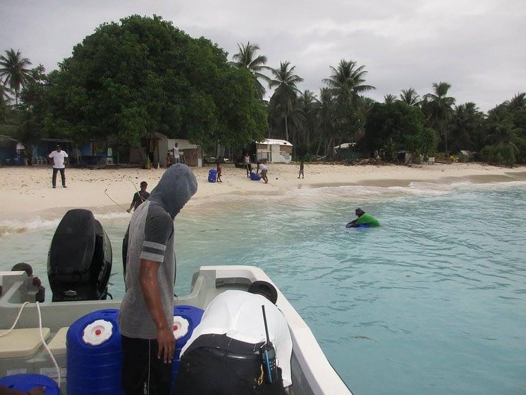 KADA Marshall Islands Hippo Rollers boat to Bikeej beach
